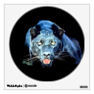 Etiqueta única de la pared del círculo de Jaguar Vinilo