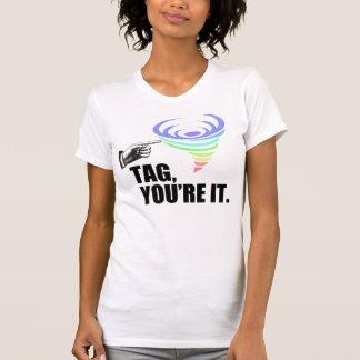 Etiqueta usted es para mujer camisetas