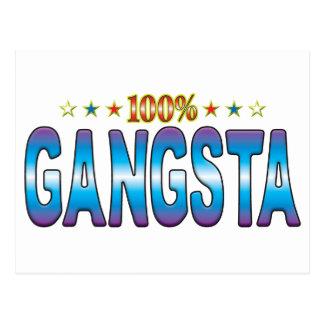 Etiqueta v2 de la estrella de Gangsta Tarjetas Postales