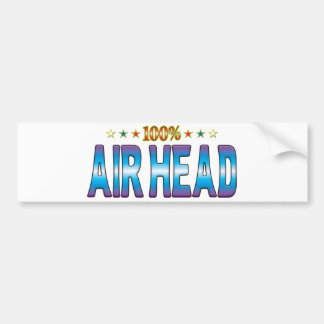 Etiqueta v2 de la estrella de la cabeza del aire pegatina para auto