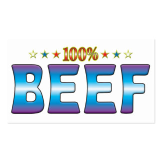 Etiqueta v2 de la estrella de la carne de vaca tarjetas de visita