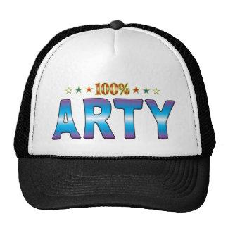 Etiqueta v2 de la estrella de los Arty Gorras De Camionero