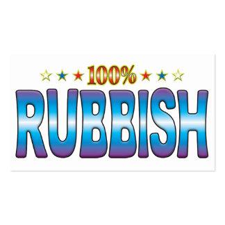 Etiqueta v2 de la estrella de los desperdicios plantilla de tarjeta de negocio