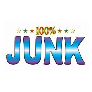 Etiqueta v2 de la estrella de los desperdicios plantillas de tarjeta de negocio
