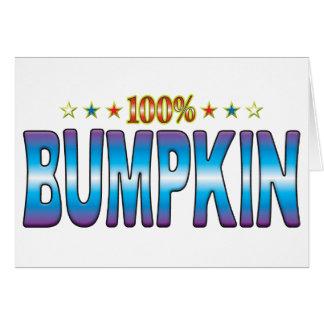 Etiqueta v2 de la estrella del Bumpkin Tarjeta De Felicitación