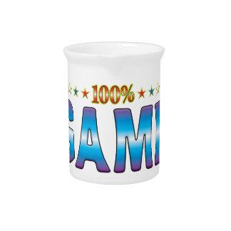 Etiqueta v2 de la estrella del juego jarras