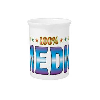 Etiqueta v2 de la estrella del médico jarra de beber