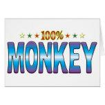 Etiqueta v2 de la estrella del mono tarjetas