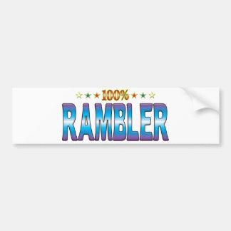 Etiqueta v2 de la estrella del Rambler Pegatina Para Auto