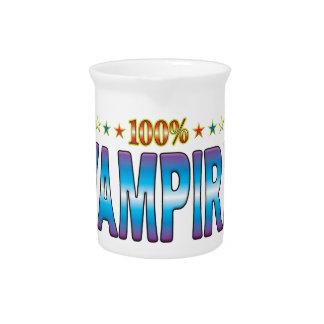 Etiqueta v2 de la estrella del vampiro jarra para bebida
