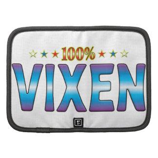 Etiqueta v2 de la estrella del Vixen Organizador