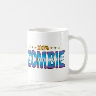 Etiqueta v2 de la estrella del zombi taza clásica