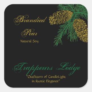 Etiqueta v2 de la vela del cono del pino Spruce