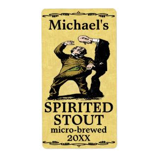 Etiqueta valiente enérgica de la cerveza del vinta etiqueta de envío
