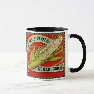 Etiqueta vegetal del vintage, Olney y maíz de