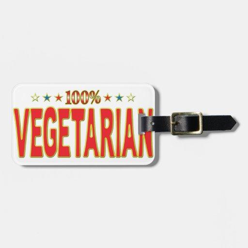 Etiqueta vegetariana de la estrella etiquetas de equipaje