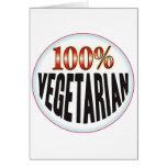 Etiqueta vegetariana felicitaciones