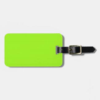 Etiqueta verde chartreuse del equipaje etiquetas bolsas