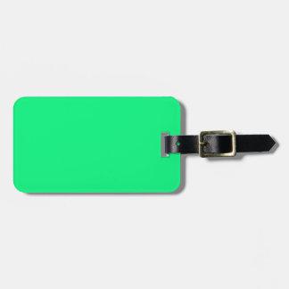 Etiqueta verde clara del equipaje etiquetas de maletas