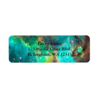 Etiqueta verde cósmica de Avery Etiquetas De Remite