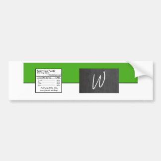 Etiqueta verde de la botella de agua del boda de l pegatina para auto
