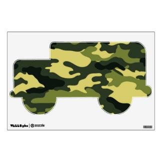 Etiqueta verde de la pared del camuflaje vinilo decorativo
