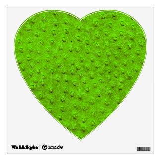 Etiqueta verde de la pared del corazón de la vinilo decorativo