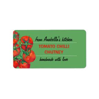 Etiqueta verde de los cotos de la cocina de los etiquetas de dirección