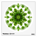 Etiqueta verde del arte de la pared de la mandala