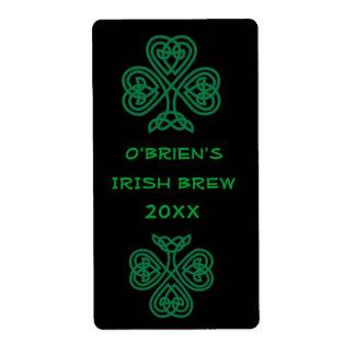 Etiqueta verde del Brew casero de la cerveza Etiqueta De Envío