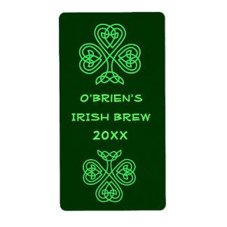 Etiqueta verde del Brew casero de la cerveza Etiquetas De Envío