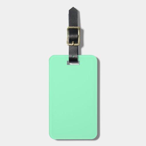 Etiqueta verde del equipaje del Aquamarine Etiqueta De Equipaje