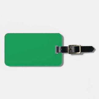Etiqueta verde del equipaje del Dos-Tono Etiquetas Para Equipaje