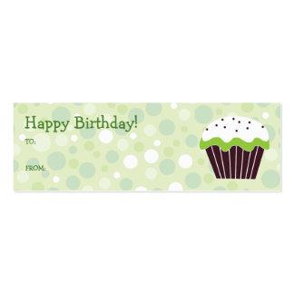 Etiqueta verde del regalo de la magdalena tarjetas de visita