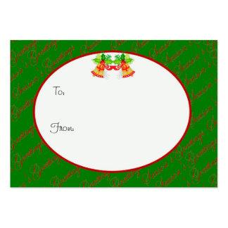 Etiqueta verde del regalo del navidad de los salud plantillas de tarjetas personales
