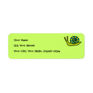 Etiqueta verde del remite del caracol etiquetas de remite