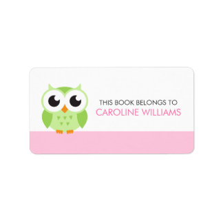 Etiqueta verde linda del libro del bookplate del b etiqueta de dirección