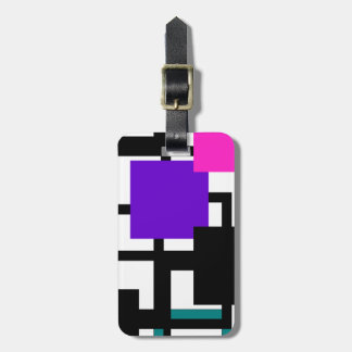 Etiqueta verde púrpura cuadrada alegre del etiquetas bolsas