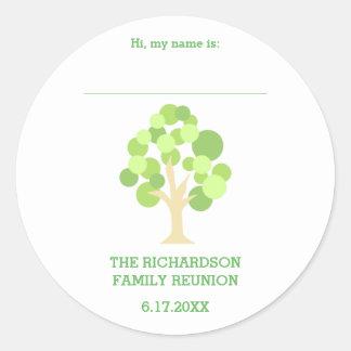 Etiqueta verde rústica linda del nombre de la