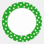 Etiqueta verde y blanca del lunar