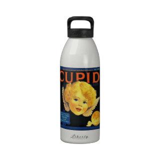 """""""Etiqueta-Vintage de la fruta cítrica del Cupid """" Botellas De Agua Reutilizables"""
