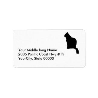 etiqueta - vuelta - gato negro etiquetas de dirección