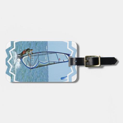 Etiqueta Windsurfing tropical del equipaje Etiquetas Para Maletas