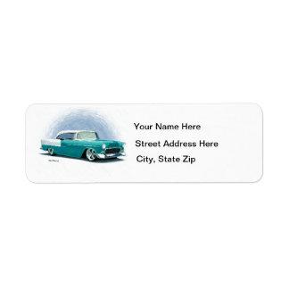 Etiquetas 1956 de dirección del cupé de Chevy del Etiqueta De Remite
