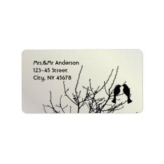 Etiquetas adaptables del boda del árbol moderno de etiqueta de dirección