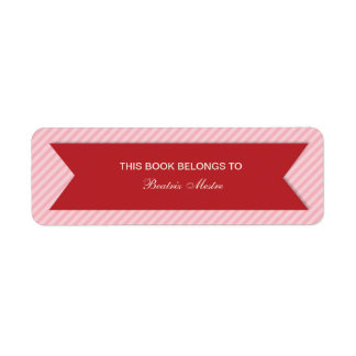 Etiquetas adaptables rayadas de los Bookplates Etiquetas De Remite