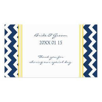 Etiquetas amarillas azules del favor del boda de C Plantilla De Tarjeta De Negocio