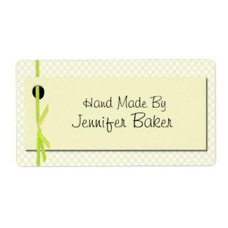 Etiquetas amarillas del paquete de la guinga etiqueta de envío