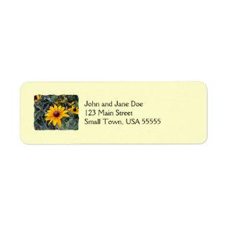 Etiquetas amarillas Negro-Observadas del remite de Etiqueta De Remite