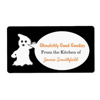Etiquetas amistosas de la cocina de Halloween del  Etiqueta De Envío